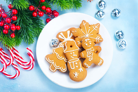 cookies and candycane on a table