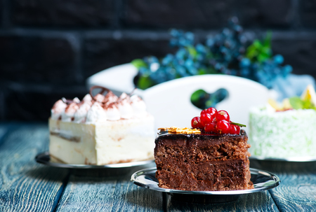 Cakes on a table, a variety of cakes