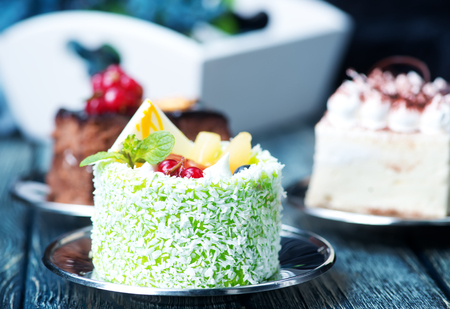 sugarpaste: Cakes on a table, a variety of cakes