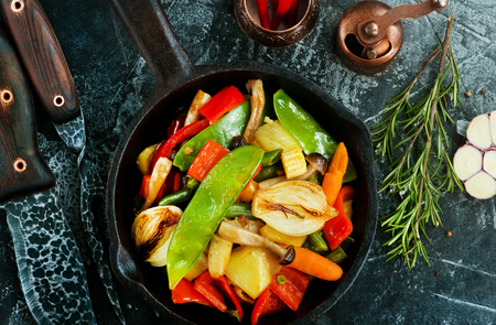 mix vegetables, fresh food for dinner, mix vegetables Stock Photo