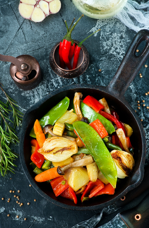 mix vegetables, fresh food for dinner, mix vegetables Stock Photo