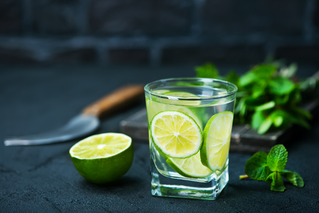 infused: drink with lemon and lime, detox drink