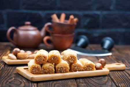 baklava: turkey desert with grated nuts and honey