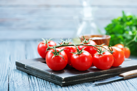 fresh tomato on a table, stock photo