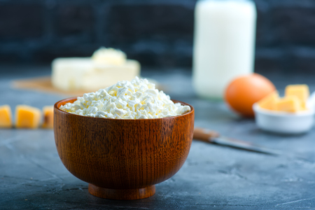 milk,butter and cheese on a table. Stock photo Stock Photo