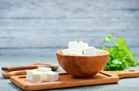 豆腐チーズ ボウルで、テーブルの上