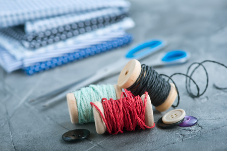 color threads on a table,stock photo