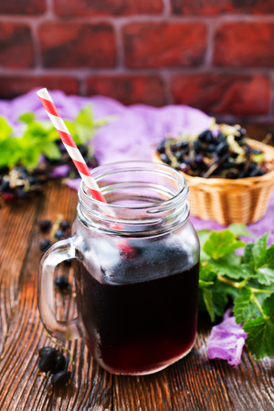 juice from black currant  in the glass