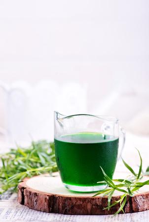 estragon drink shot on a table, stock photo