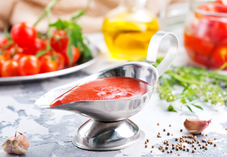 tomato sauce with salt and aroma spice