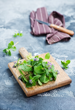 aroma herb on board and on a table