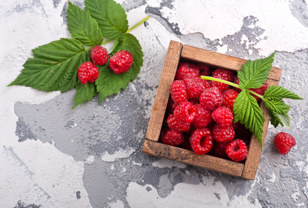 fresh raspberry in the bowl, stock photo