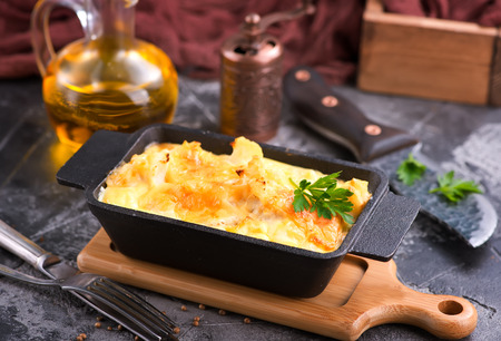 baked cauliflower with egg and cheese Фото со стока