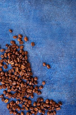 테이블, 커피 배경에 커피 콩