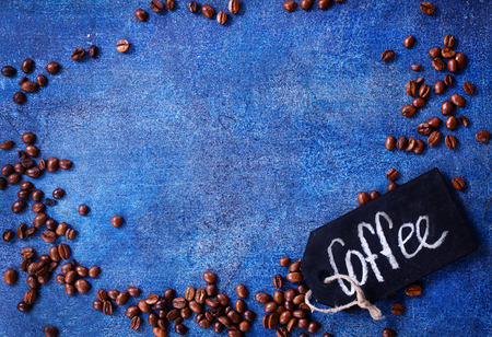 coffee beans on a table, coffee background Stok Fotoğraf - 82428862