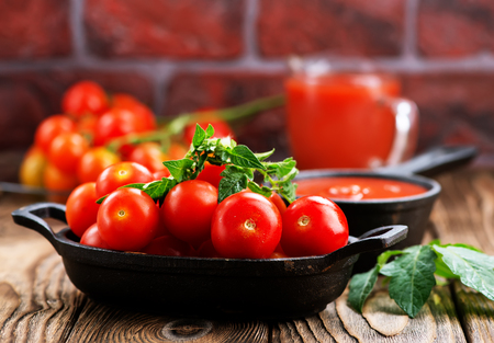 tomato sauce and fresh tomato in the bowl
