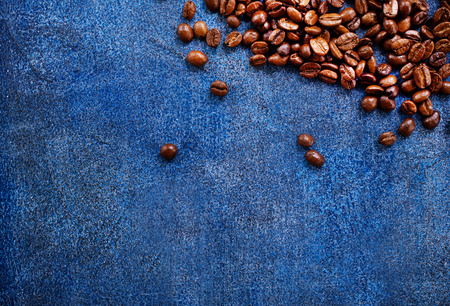 coffee beans on a table, coffee background