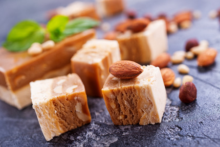 sweet scherbet with almond and cedar nuts Stock Photo - 82978138