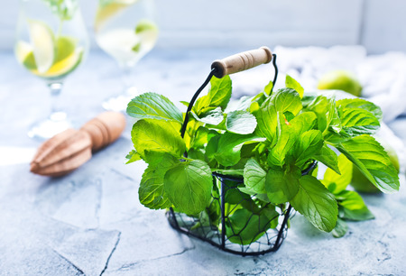 ingredients for mojito on a table, stock photo Stock fotó - 83874971