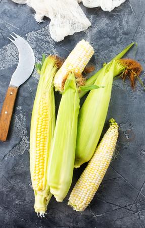 sweet corn on the table Stock Photo