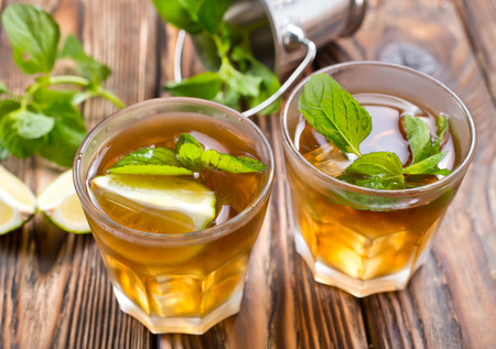 drink with lemon and mint, stock photo