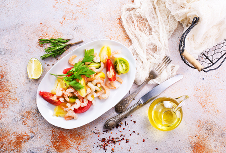 salad with shrimps on the plate,stock photo Stock Photo