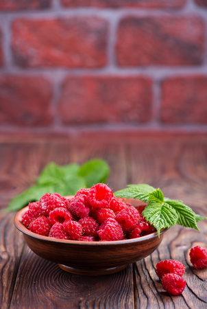fresh raspberry on the plate, stock photo Stock Photo