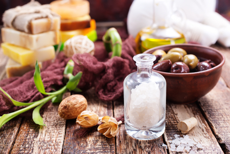 spa objects on a table, stock photo