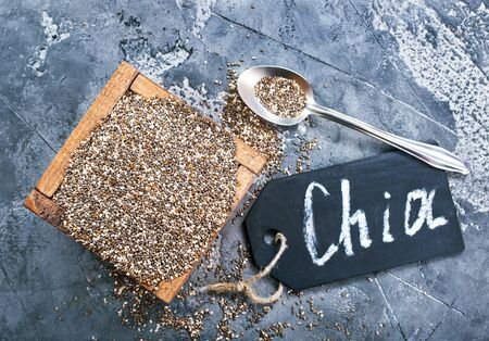 chia seed on a table,stock photo