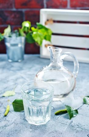 birch tree juice in glass Stock Photo