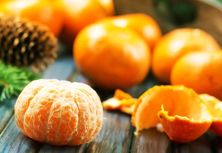 fresh mandarins on a table