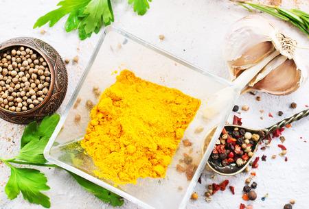 aroma spice on kitchen table