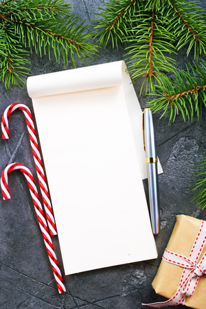 christmas decoration on a table, stock photo Stock Photo