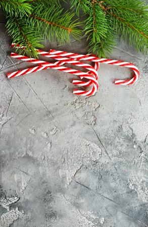 christmas cane on a table, stock photo Stock Photo
