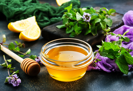 aroma herb and honey on a table