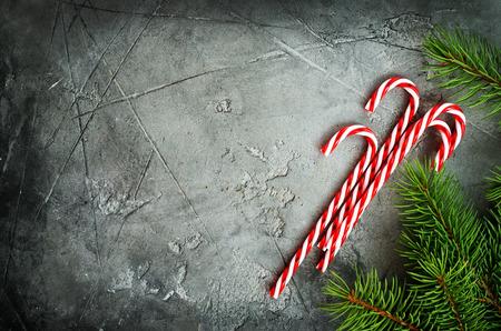 christmas cane on a table, stock photo Stok Fotoğraf