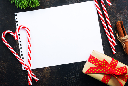 Piece of paper for christmas wishes, christmas background
