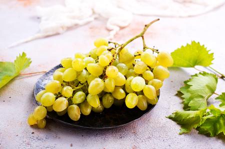fresh grape on a table