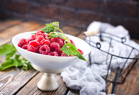fresh berries in bowl on a table