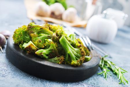 broccoli with spice and salt