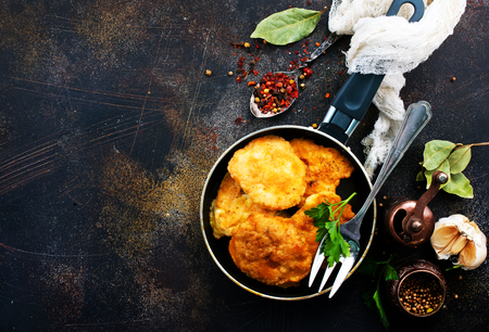 chicken pancakes with spice, fried chicken pancakes