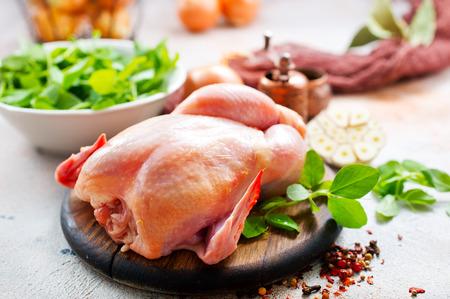 raw chicken, chicken with spice and salt