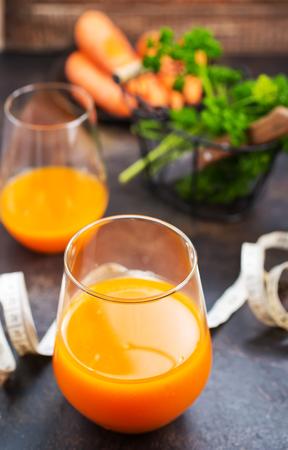 carrot juice and fresh carrot Stok Fotoğraf