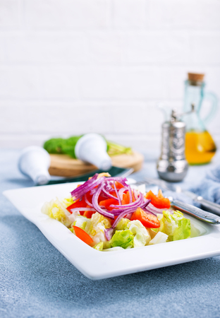 salad with pepper and leaf, fresh salad