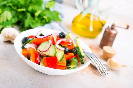 fresh vegetable salad in bowl, diet food Zdjęcie Seryjne