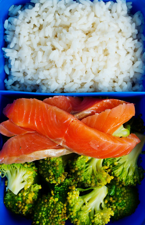 Diet food in lunch box, fresh dinner food Stock Photo