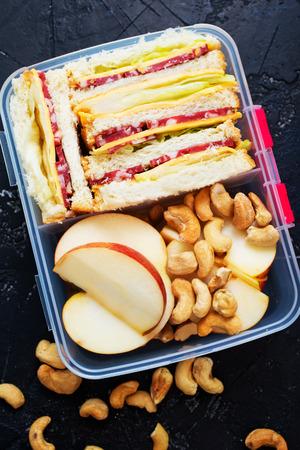 Diet food in lunch box, fresh dinner food 版權商用圖片