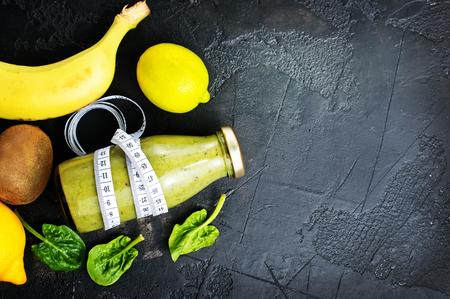 Fruit smoothie in bottle, diet food, fresh smoothie