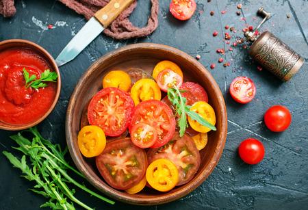 salad with fresh tomato , fresh tomato salad Stock Photo