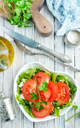 Fresh tomato with spice, vegetarian salad, salad with fresh tomato and spice Stok Fotoğraf